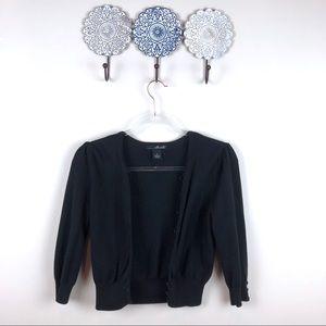 Willi Smith Black Cardigan Sweater Small S